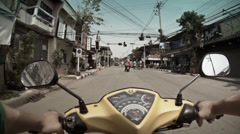 Trip on motorcycle in Pai - Thailand Stock Footage