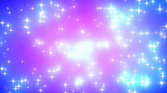 Pink Nebula Looping Glowing Stars Background 2 Stock Footage