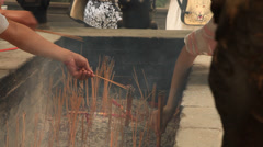 Lingyin Temple incense 2 Stock Footage