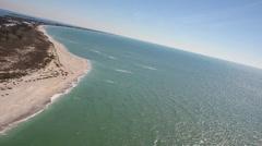 Boca Grande Beach Northern Tip - stock footage
