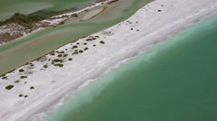 Cayo Costa State Park Close aerial Stock Footage