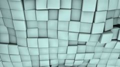Ocean made from 3D Cubes Stock Footage
