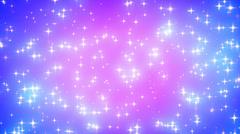 Pink Nebula Looping Glowing Stars Background 1 Dense Fast - stock footage