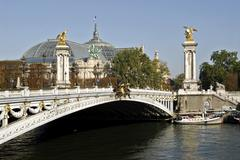 Alexandre III Bridge in Paris - stock photo