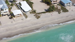 Manasota Beach zoom in of houses and beach Stock Footage