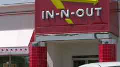 In and Out Burger Fast Food Establishment Stock Footage