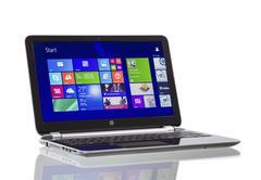 Windows 8.1 on hp pavilion  ultrabook - stock photo