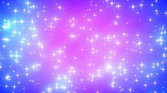 Pink Nebula Looping Glowing Stars Background 1 Dense - stock footage