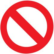 stop forbidden sign symbol zone blank vector - stock illustration