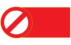 blank stop forbidden sign symbol zone vector - stock illustration