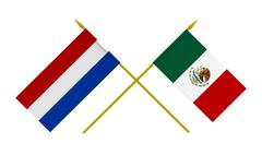 Stock Photo of flags, mexico and netherlands