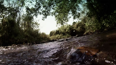 Thai river slow motion at Pai area. Stock Footage