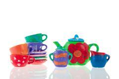 dinnerware set - stock photo