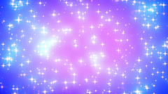 Pink Nebula Looping Glowing Stars Background 2 Fast Stock Footage