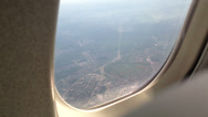 Stock Video Footage of Airplane window, looking outside, POV