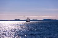Stock Photo of recreational yacht at adriatic sea