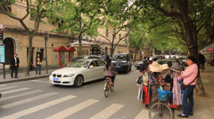 Stock Video Footage of Street vendor at Shanghai Former French Concession