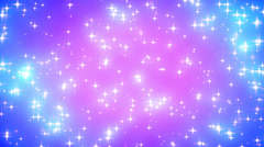 Pink Nebula Looping Glowing Stars Background 2 Dense - stock footage