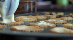 Bakery delights being prepared Stock Footage