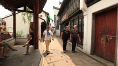 Qibao alley 3 Stock Footage
