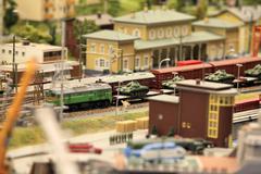 Military tanks transportation by rail Stock Photos