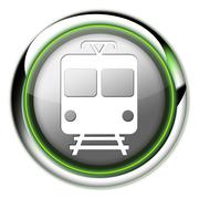 "icon/button/pictogram ""train / mass transit"" - stock illustration"