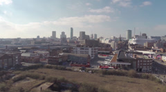 Aerial Video clip of Birmingham UK over view, south view point Stock Footage