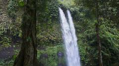 Sindang Gila Waterfall in Senaru on Lombok Island in Indonesia, Asia Stock Footage