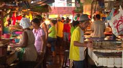 Tacloban fish market before Typhoon Haiyan Yolanda Stock Footage
