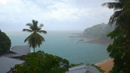 Stock Video Footage of Tropical Rain Seascape from Luxury Sea View Villa. Thailand.