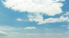 Clouds Timelapse, Summer Sky  - Full HD 1920X1080 Video captured with wide lens Stock Footage