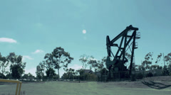 Oil Rig Wide Stock Footage