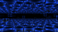 Abstract Moving Blocks Background - Loop Blue - stock footage