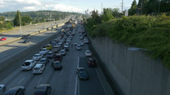 Traffic jam and congestion at rush hour Stock Footage
