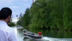 4K Fisherman on Lake Ontario Stock Footage