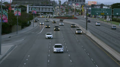 Cars on Freeway in Los Angeles Stock Footage