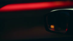 Car mirror at high speed Stock Footage