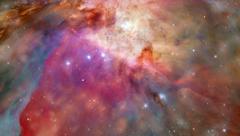 Stock Video Footage of Orbit around planet galaxy and stars
