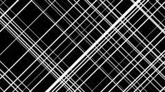 White line crossing pattern loop Stock Footage