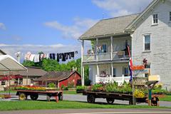 Amish roadside market Stock Photos