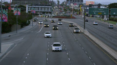 Cars on Freeway in Los Angeles in 4K Stock Footage