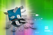 Stock Illustration of e-mail concept. modern laptop and envelope