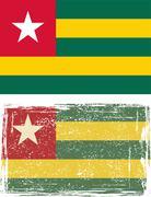 Togo grunge flag. Vector Stock Illustration