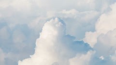 Cloudscape of towering cumulus formations Stock Footage