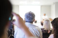 Business convention and Presentation. - stock photo