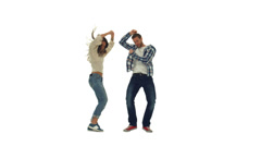 Happy couple enjoying party dancing Stock Footage
