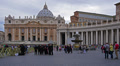 St. Peter's Square, Rome, Italy, time-lapse. Footage