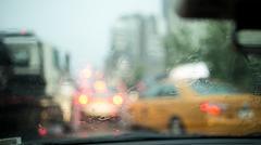 Rainy Day in New York City Stock Photos