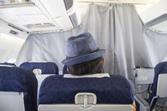 Aircraft passenger Stock Photos