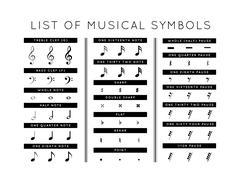 Stock Illustration of set of musical symbols